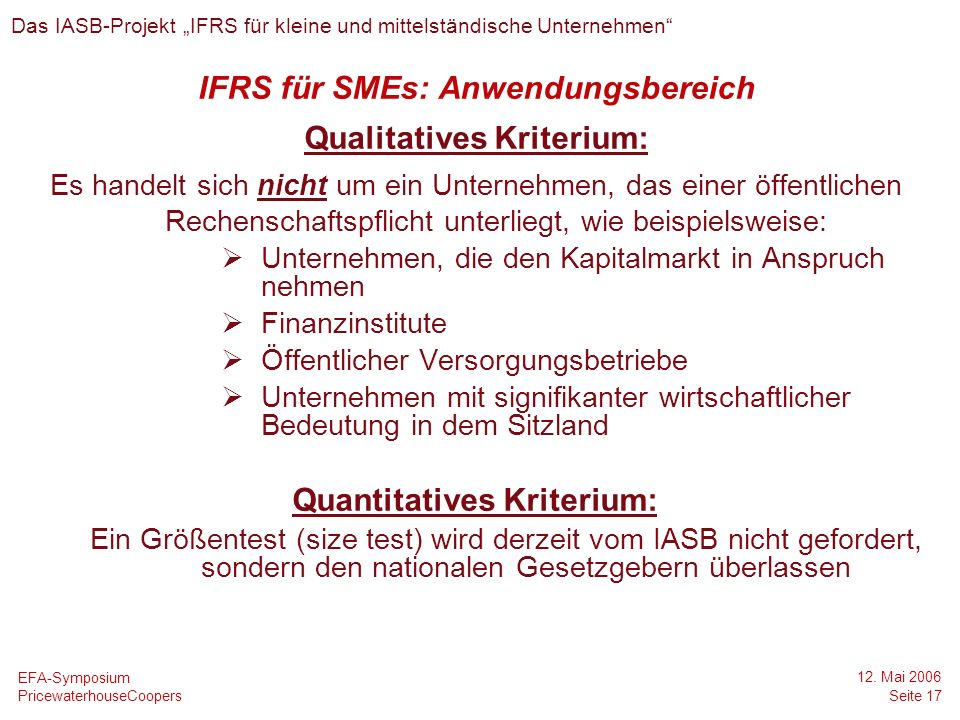 Qualitatives Kriterium: