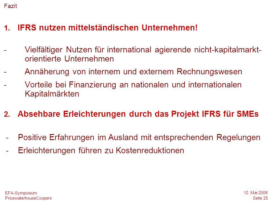IFRS nutzen mittelständischen Unternehmen!
