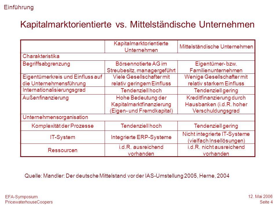 Kapitalmarktorientierte vs. Mittelständische Unternehmen