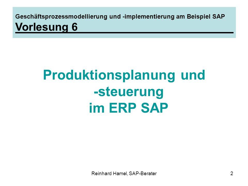 Produktionsplanung und -steuerung im ERP SAP