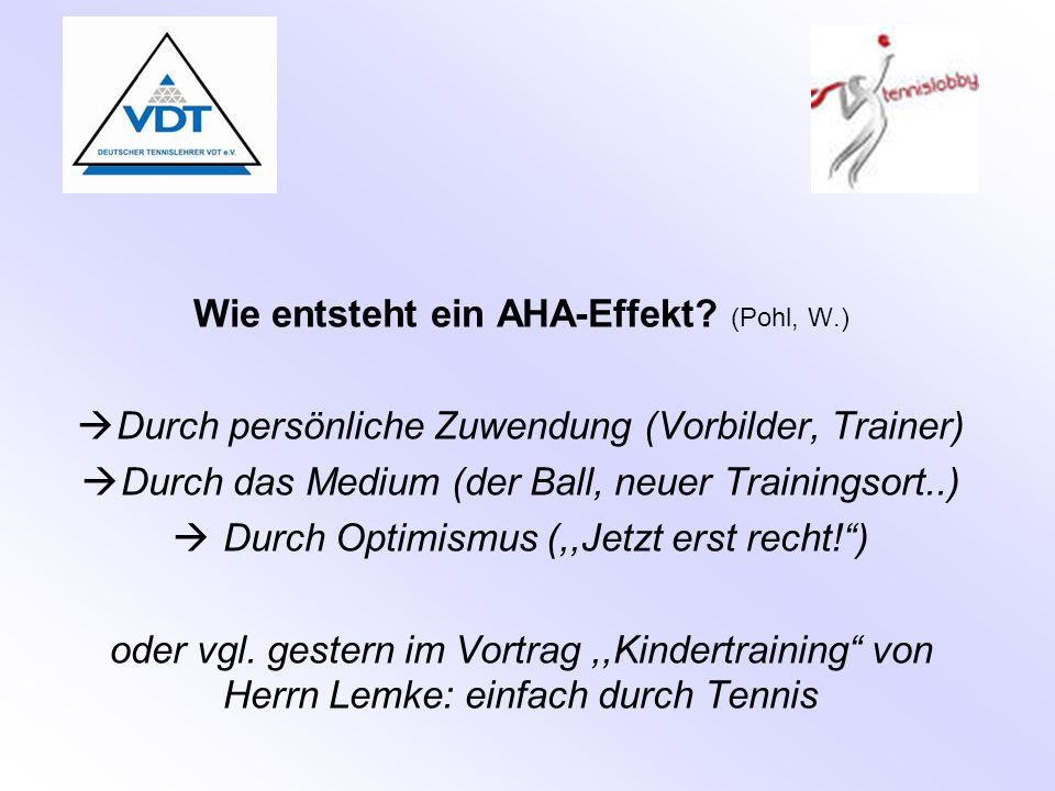 Wie entsteht ein AHA-Effekt (Pohl, W.)
