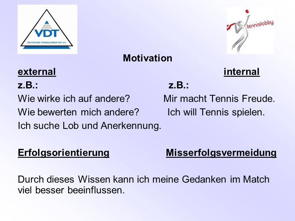 Motivation external internal.