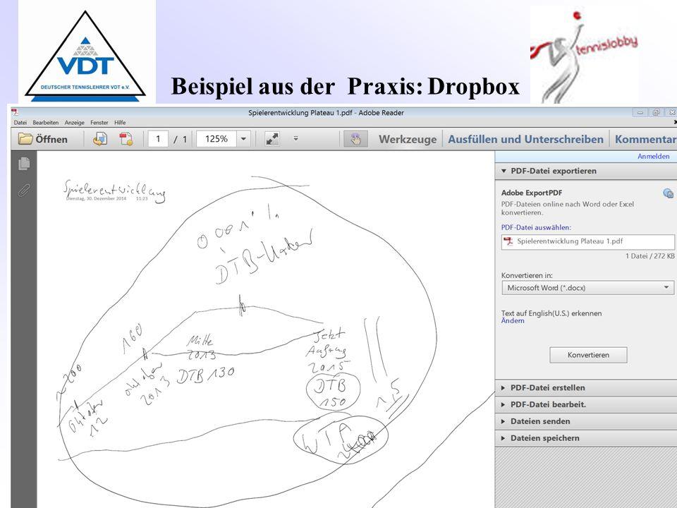 Beispiel aus der Praxis: Dropbox