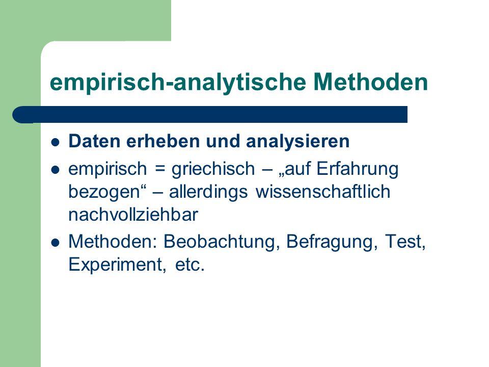 empirisch-analytische Methoden