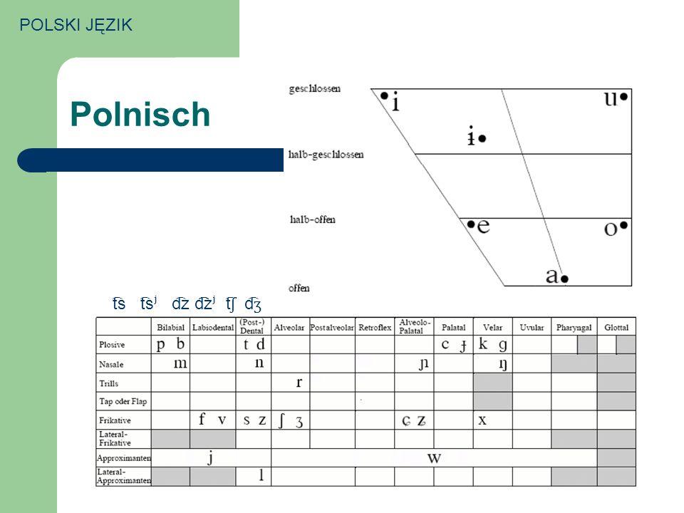 POLSKI JĘZIK Polnisch t͡s t͡sʲ d͡z d͡͡͡zʲ t͡ʃ d͡ʒ