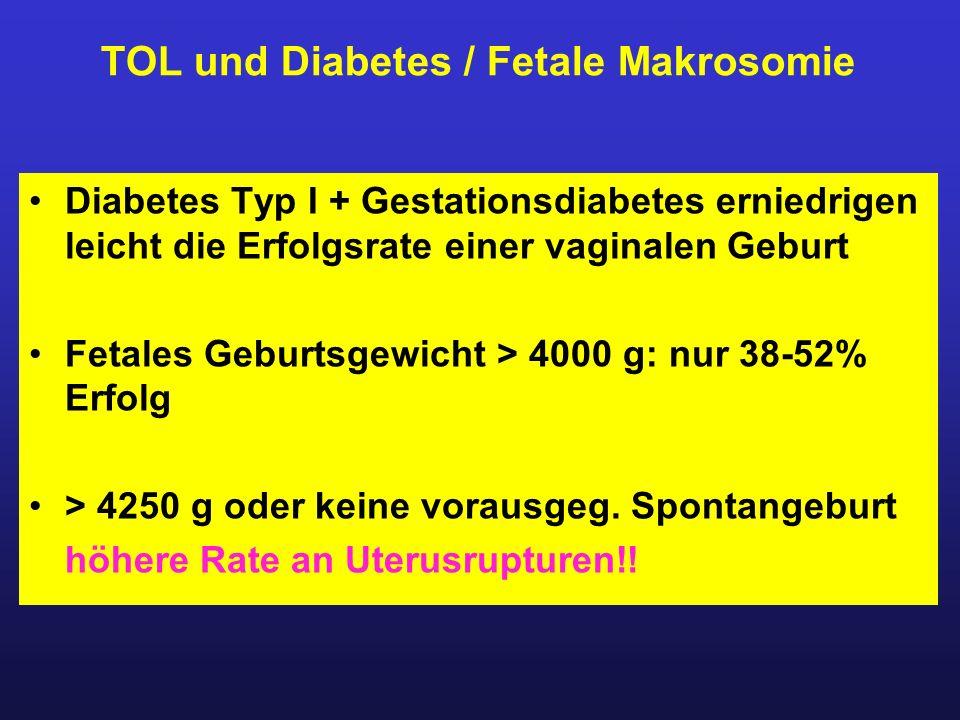 TOL und Diabetes / Fetale Makrosomie