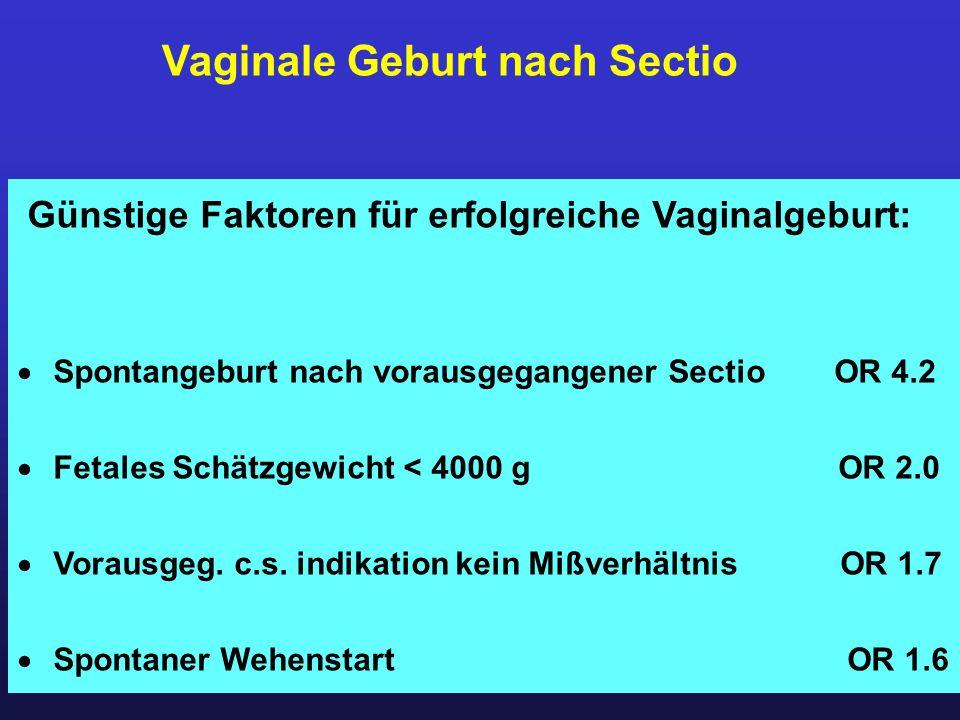 Vaginale Geburt nach Sectio