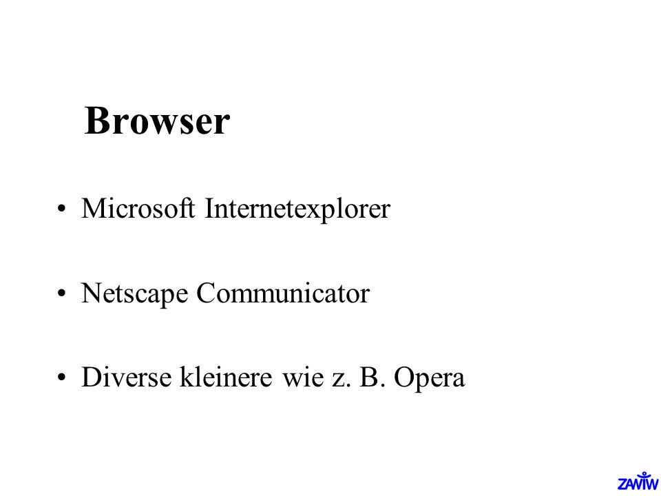 Browser Microsoft Internetexplorer Netscape Communicator