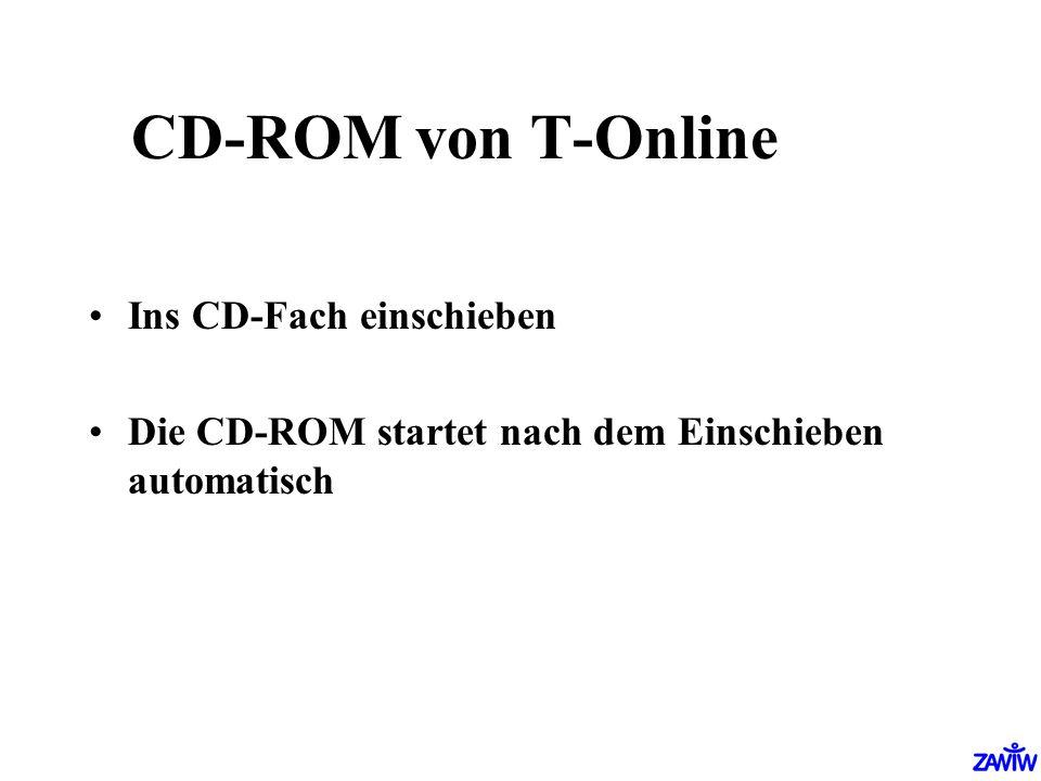 CD-ROM von T-Online Ins CD-Fach einschieben