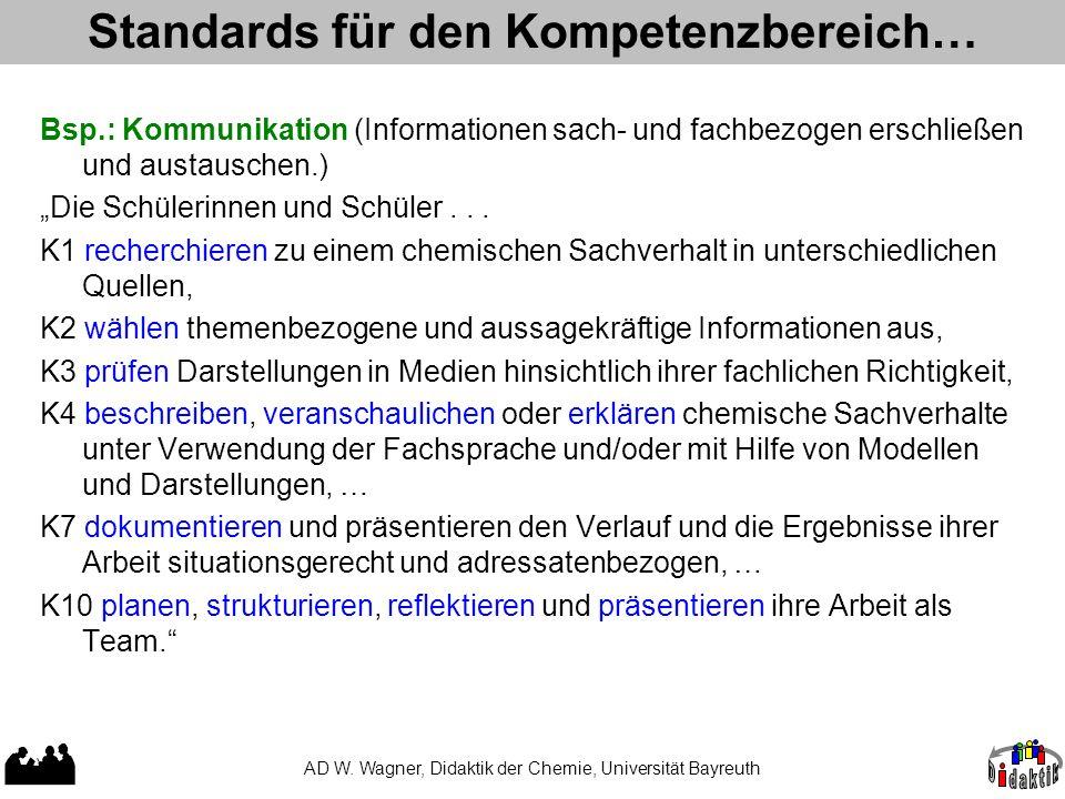 Standards für den Kompetenzbereich…
