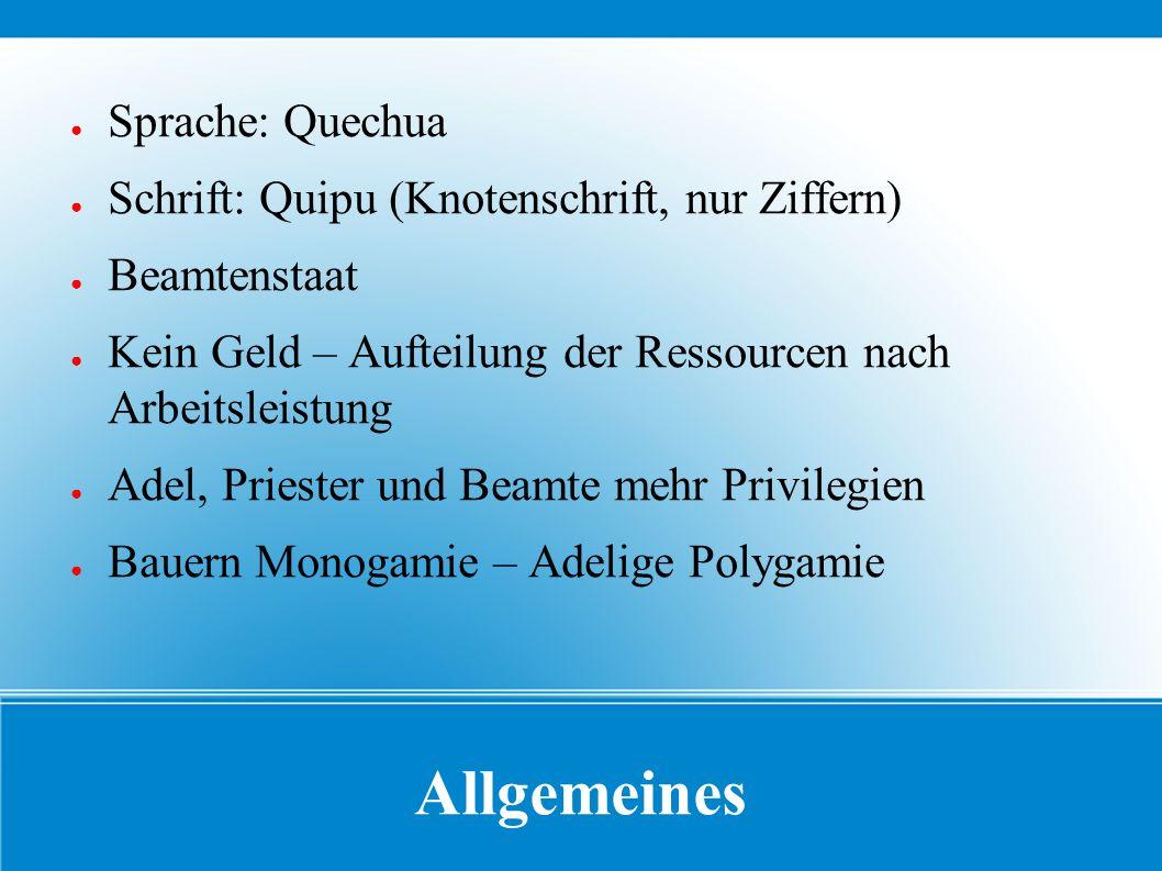 Allgemeines Sprache: Quechua