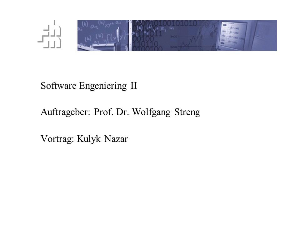Software Engeniering II