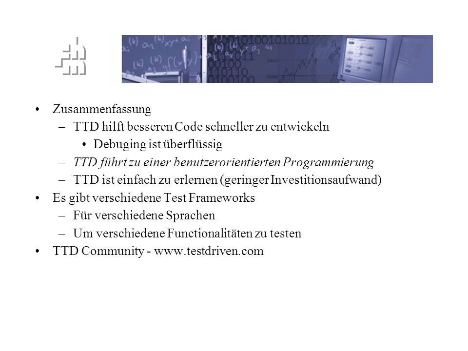 TTD Prinzip Zusammenfassung