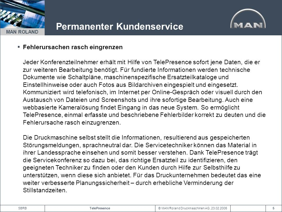 Permanenter Kundenservice