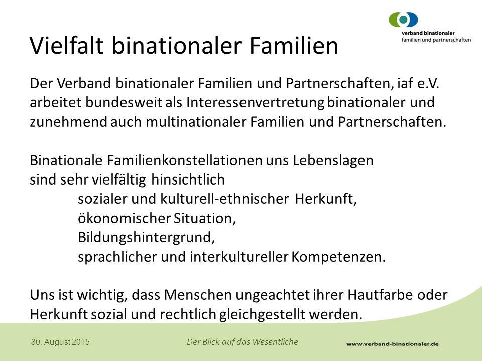 Vielfalt binationaler Familien