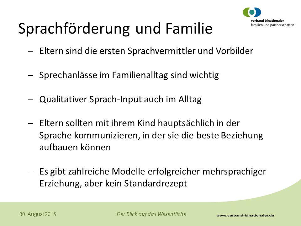 Sprachförderung und Familie