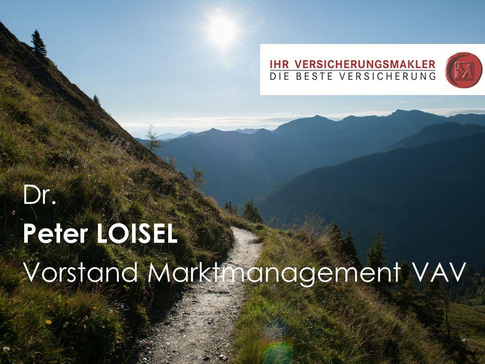 - Chancen und Entwicklungsfelder für Makler im zukünftigen Wettbewerb der Vertriebswege aus Sicht eines Versicherers Dr. Peter Loisel.