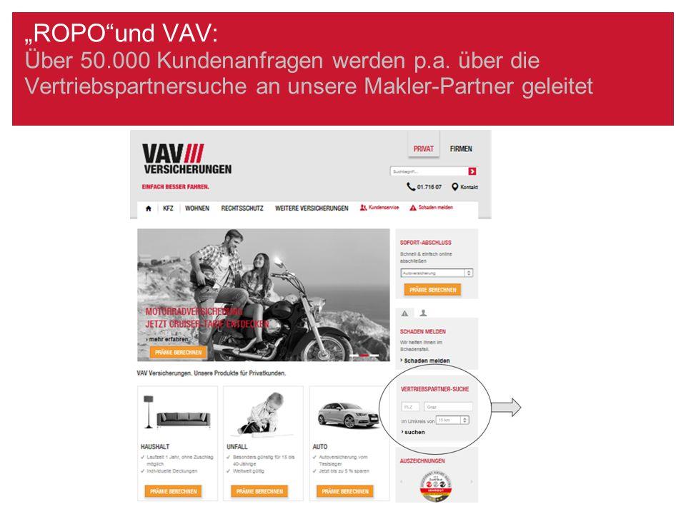 Die Vertriebspartnersuche auf der VAV-Website: Moderne Aufbereitung via Google-Maps/Beispiel: Graz