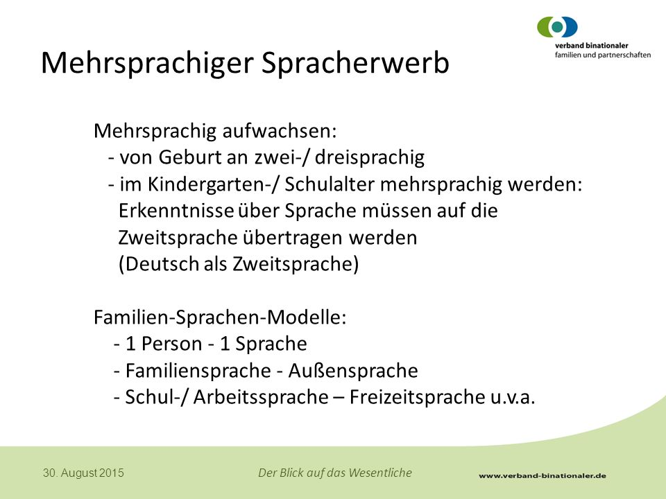 Mehrsprachiger Spracherwerb