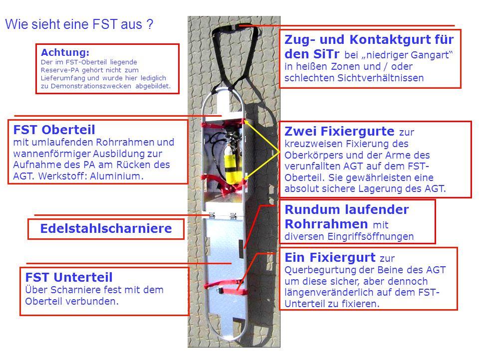 """Wie sieht eine FST aus Zug- und Kontaktgurt für den SiTr bei """"niedriger Gangart in heißen Zonen und / oder schlechten Sichtverhältnissen."""