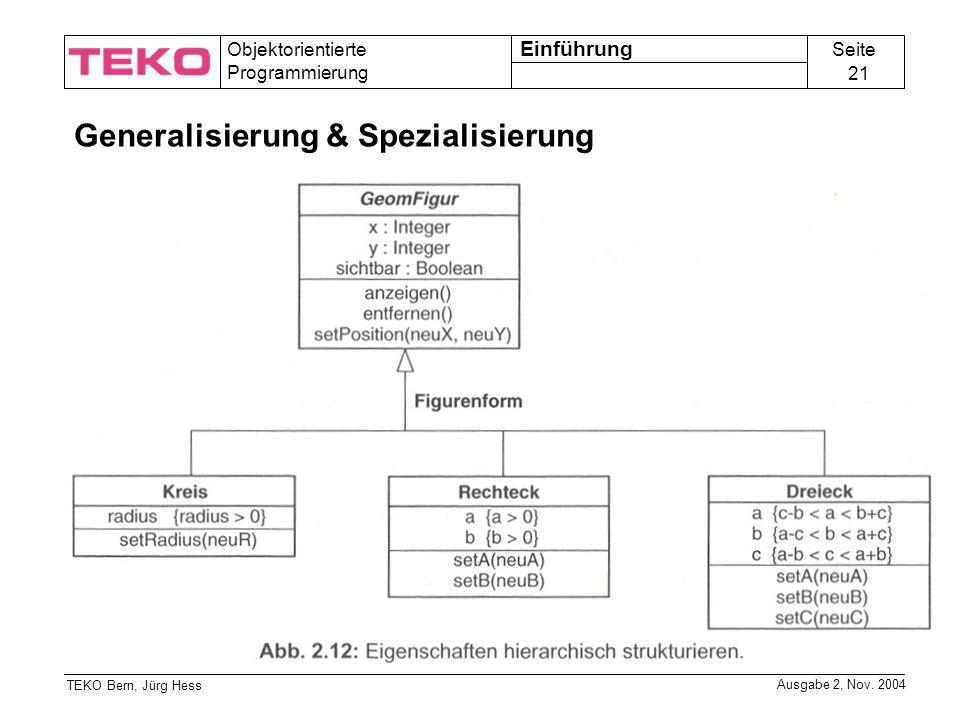 Generalisierung & Spezialisierung