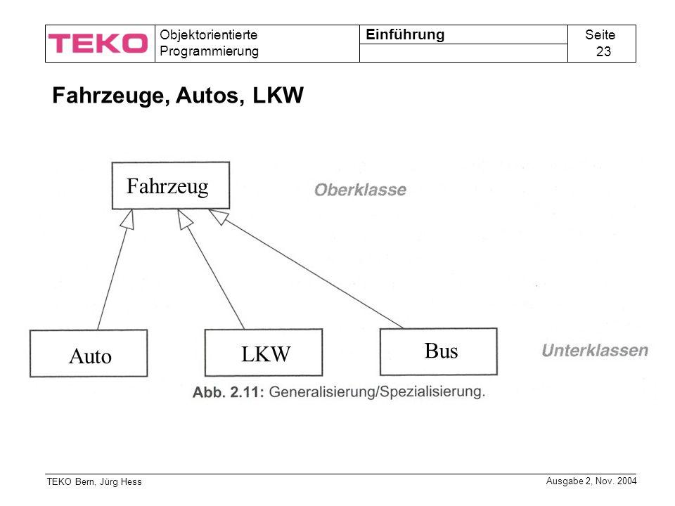 Einführung Fahrzeuge, Autos, LKW Fahrzeug Auto LKW Bus