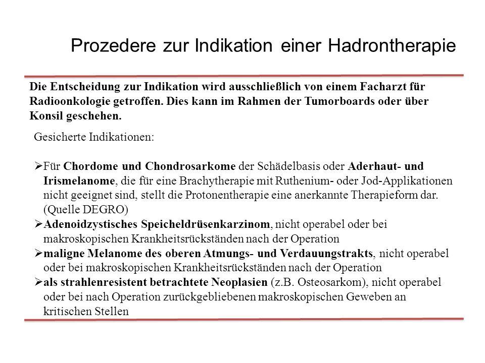Prozedere zur Indikation einer Hadrontherapie
