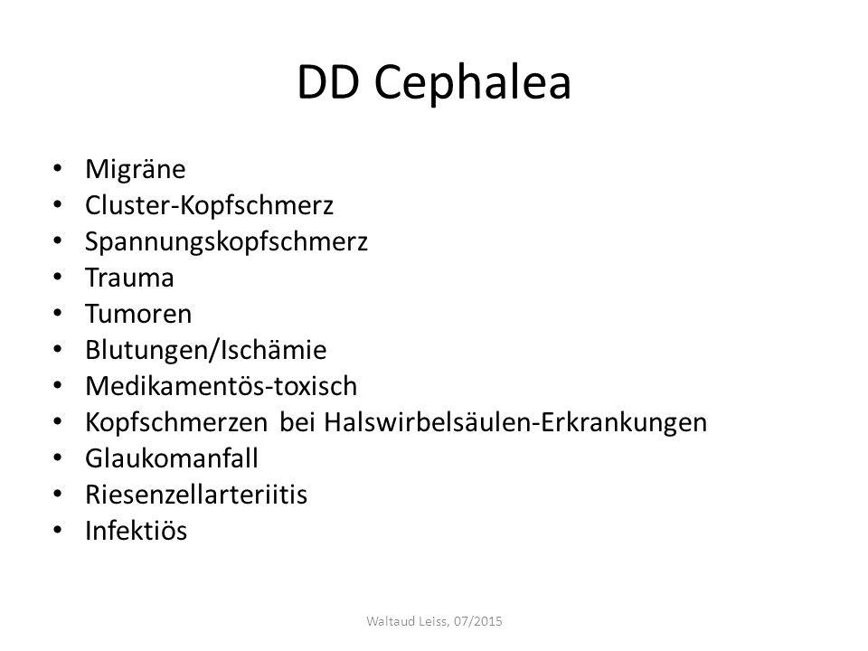 DD Cephalea Migräne Cluster-Kopfschmerz Spannungskopfschmerz Trauma