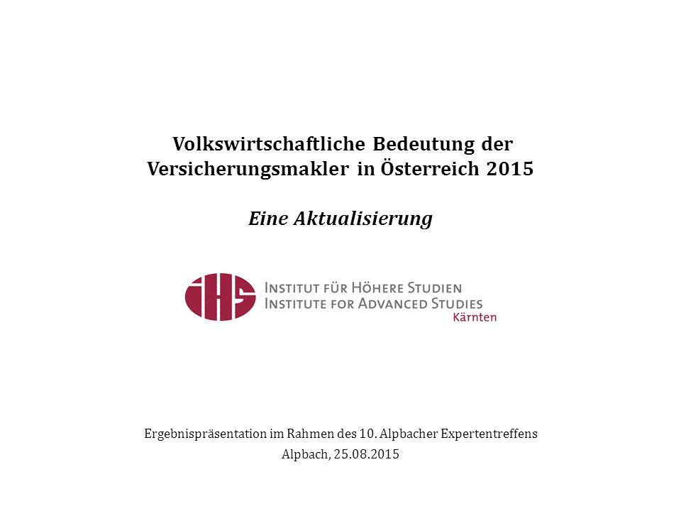 Ergebnispräsentation im Rahmen des 10. Alpbacher Expertentreffens