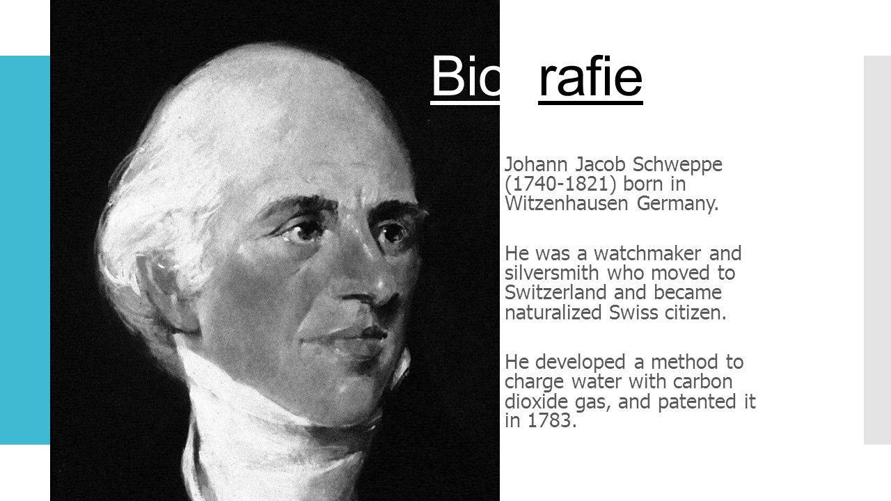 Biografie Johann Jacob Schweppe (1740-1821) born in Witzenhausen Germany.