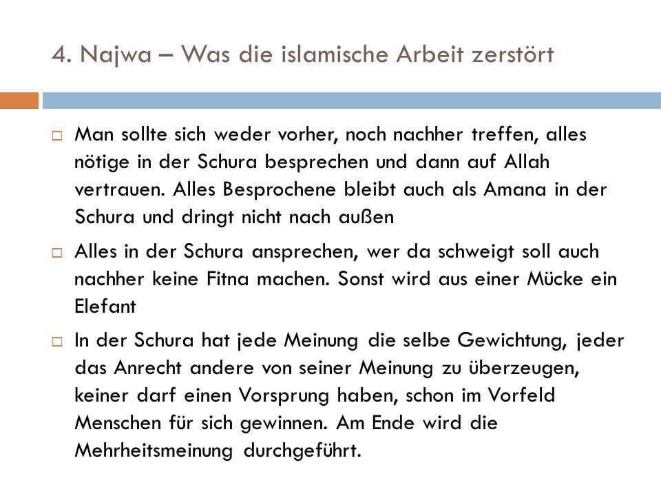 4. Najwa – Was die islamische Arbeit zerstört