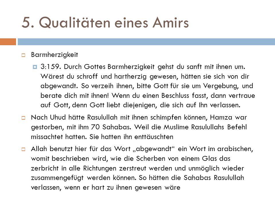 5. Qualitäten eines Amirs