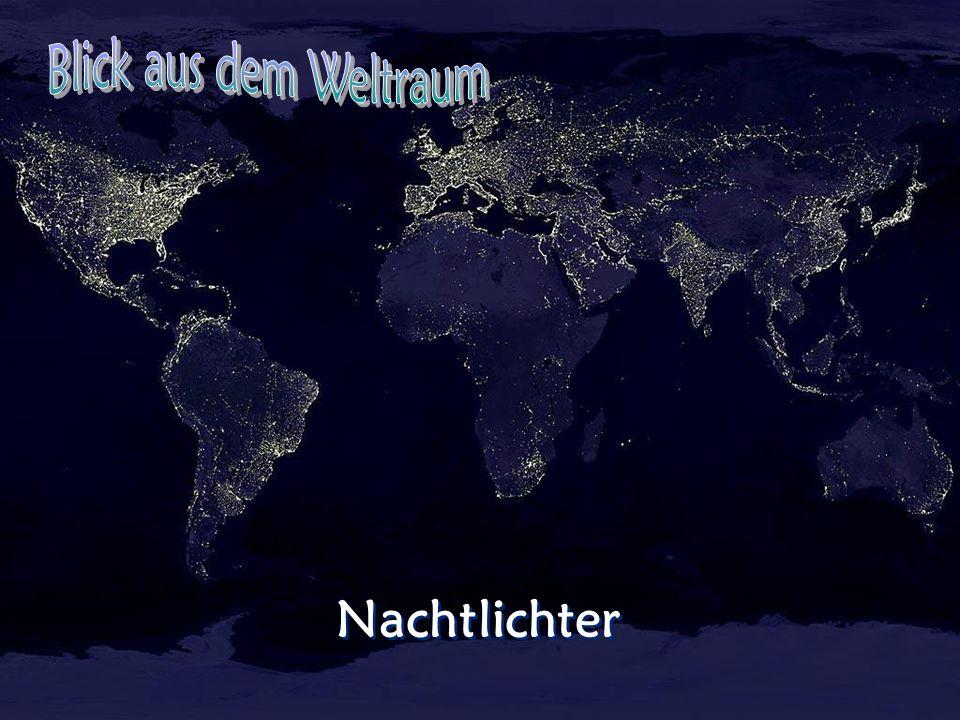 Blick aus dem Weltraum Nachtlichter