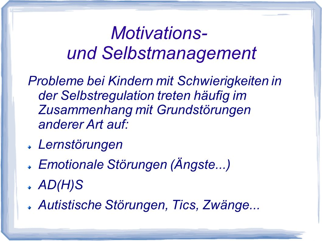 Motivations- und Selbstmanagement