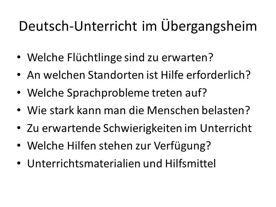 Deutsch-Unterricht im Übergangsheim