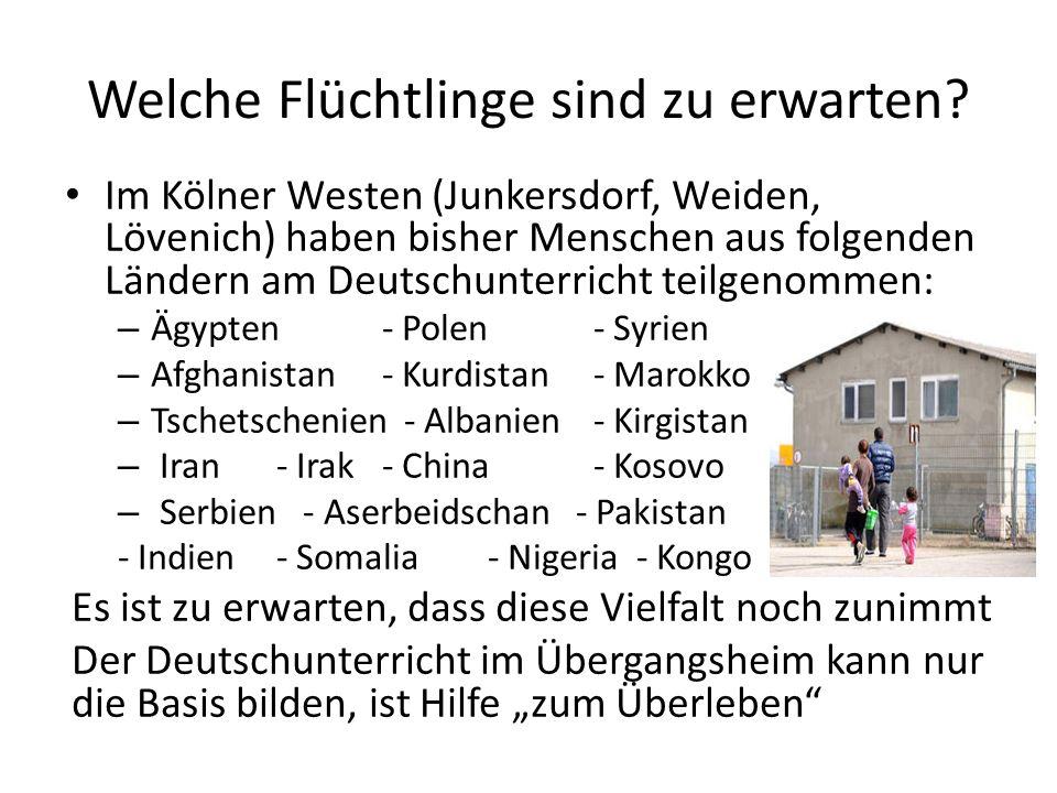 Welche Flüchtlinge sind zu erwarten