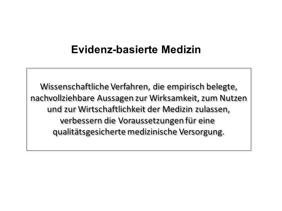 Evidenz-basierte Medizin