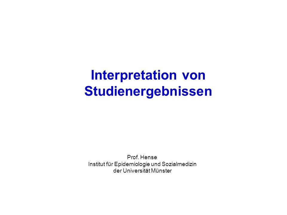 Interpretation von Studienergebnissen