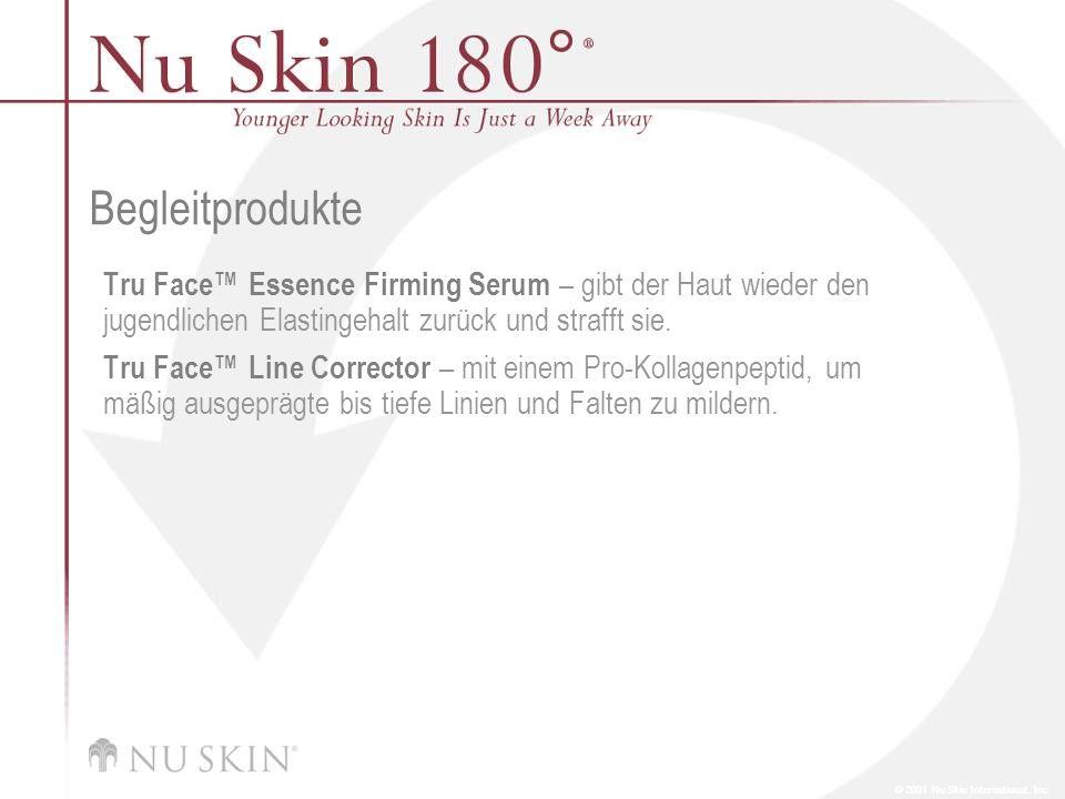 Begleitprodukte Tru Face™ Essence Firming Serum – gibt der Haut wieder den jugendlichen Elastingehalt zurück und strafft sie.