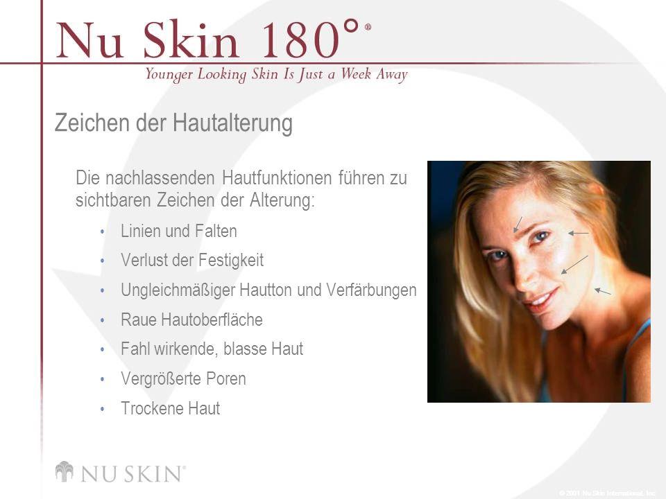 Zeichen der Hautalterung