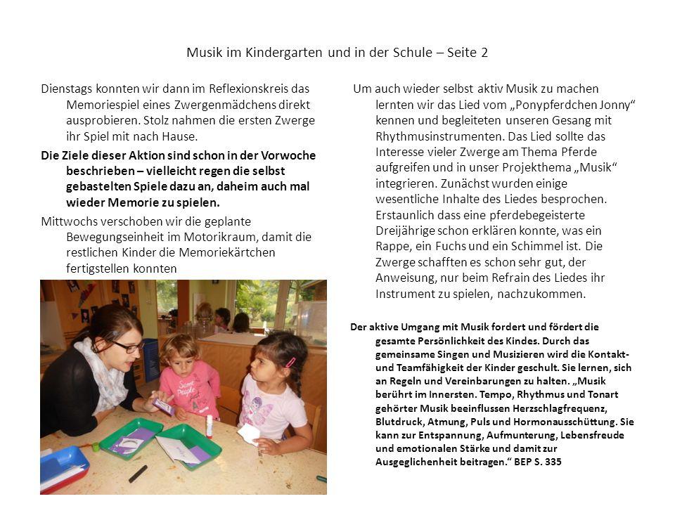 Musik im Kindergarten und in der Schule – Seite 2