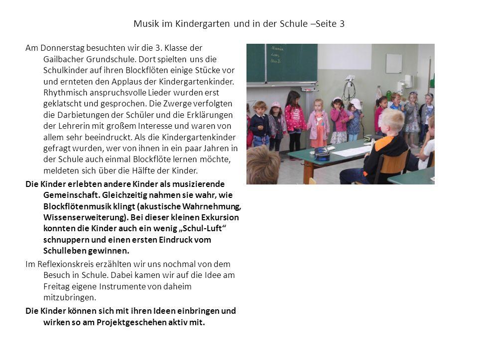 Musik im Kindergarten und in der Schule –Seite 3