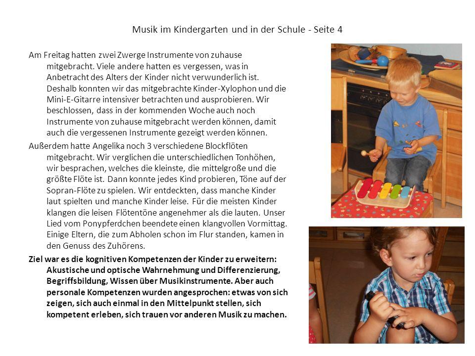 Musik im Kindergarten und in der Schule - Seite 4