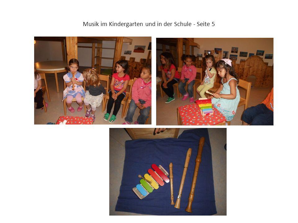 Musik im Kindergarten und in der Schule - Seite 5