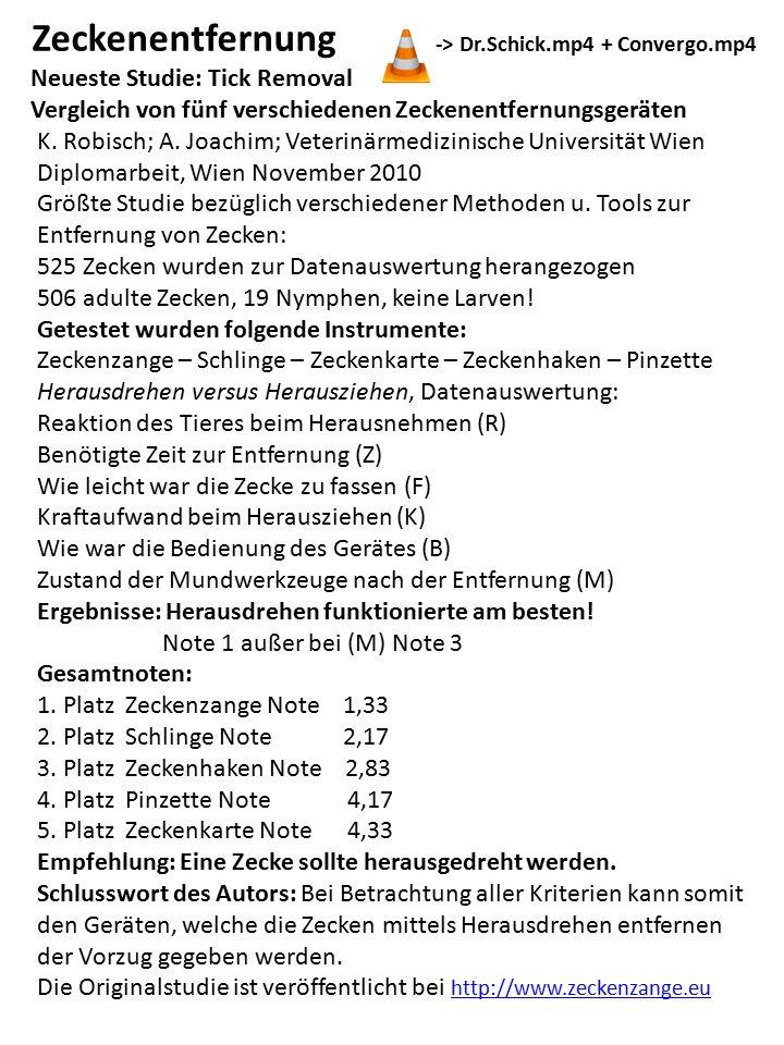 Zeckenentfernung -> Dr.Schick.mp4 + Convergo.mp4