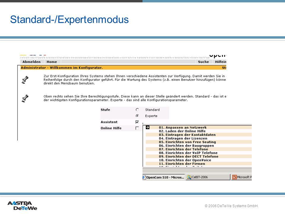 Standard-/Expertenmodus