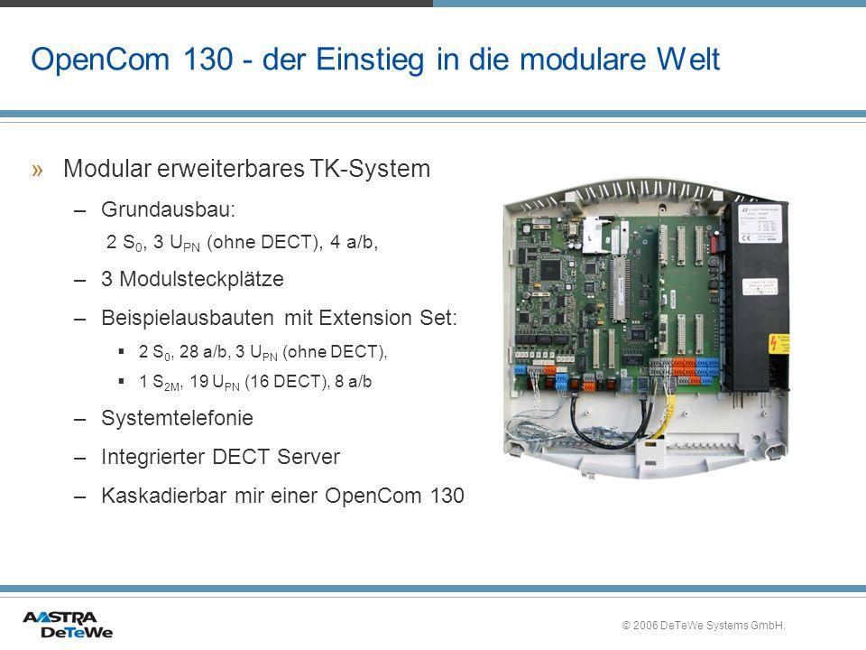 OpenCom 130 - der Einstieg in die modulare Welt