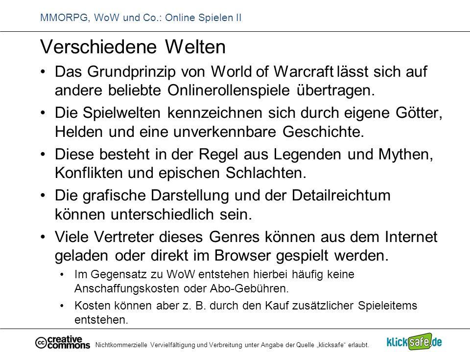 MMORPG, WoW und Co.: Online Spielen II
