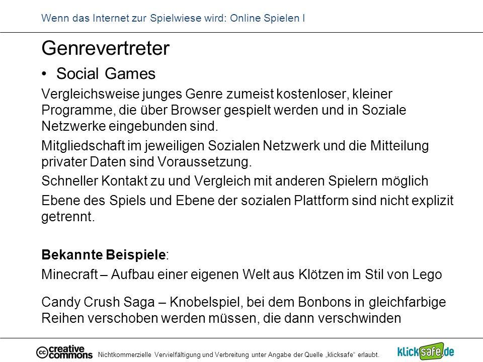 Wenn das Internet zur Spielwiese wird: Online Spielen I