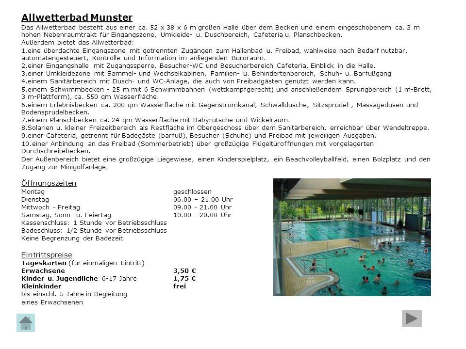 Allwetterbad Munster Öffnungszeiten Eintrittspreise